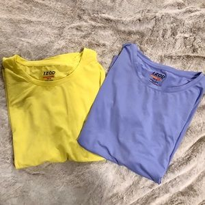 2 Ladies IZOD performance modal blend tees.
